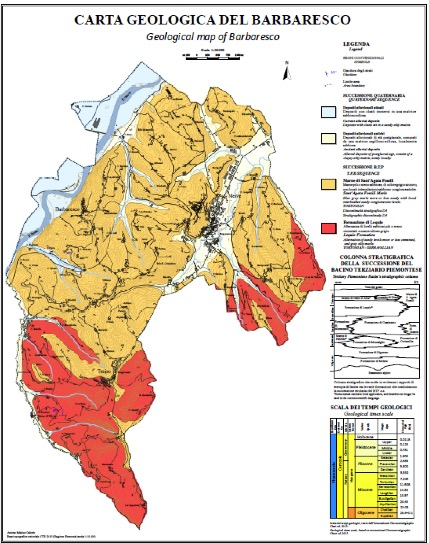 carta geologica del barbaresco vini piemonte langhe roero