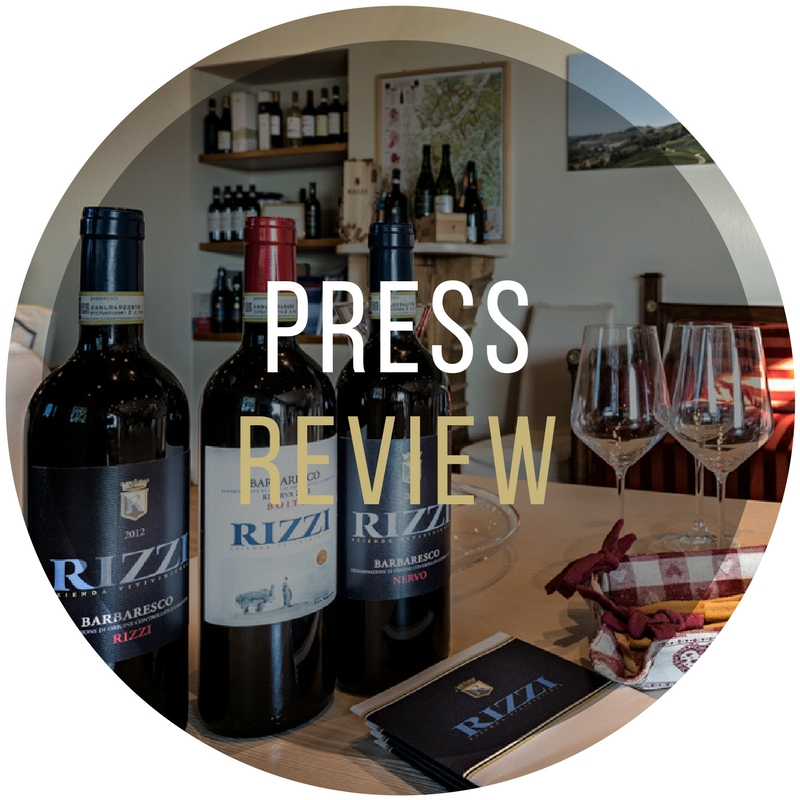 PRESS REVIEW CANTINA RIZZI TREISO PIEDMONT