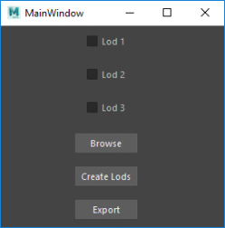 Very early version of the Lod Creator
