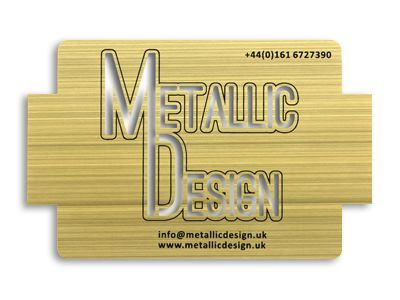 Gold brushed card
