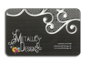 Black metal cards metallic design uk card black brushed 1 ming reheart Gallery