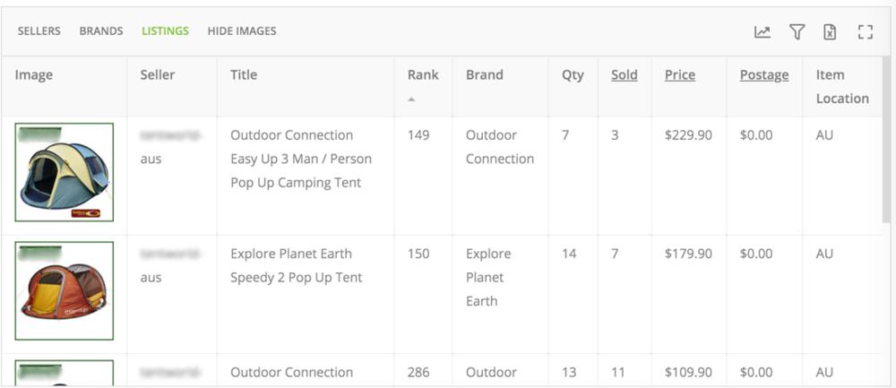 The established retailer has poor eBay ranking.