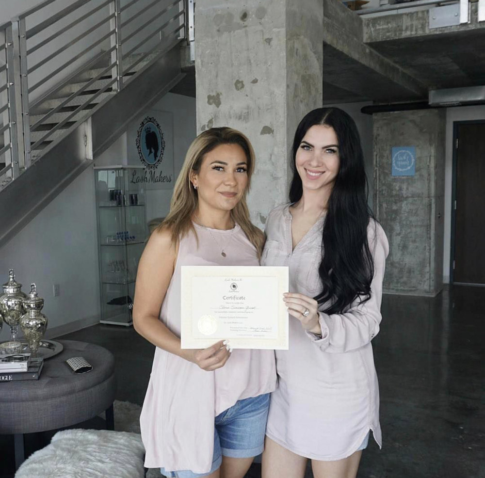 - Clara getting Lashmakers certified in Miami