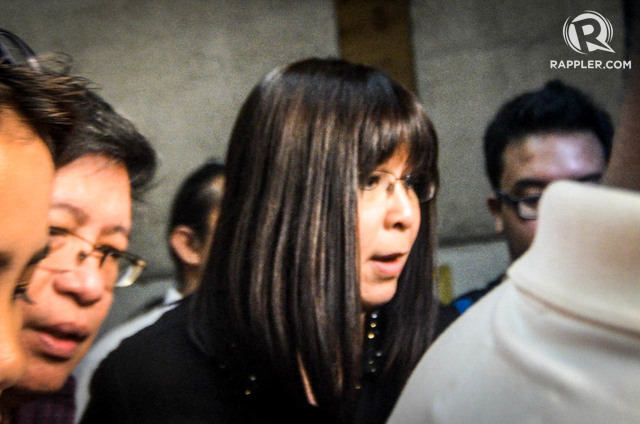 Lottie Manalo-Hemedez appears before a Quezon City court hearing a petition for injunction filed by the INC. Photo by Alecs Ongcal/Rappler