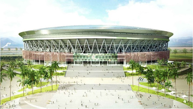 MONUMENTAL. The Philippine Arena is set to be completed in early 2014, in time for the 100th anniversary of the Iglesia ni Cristo. Image from Wikimapia