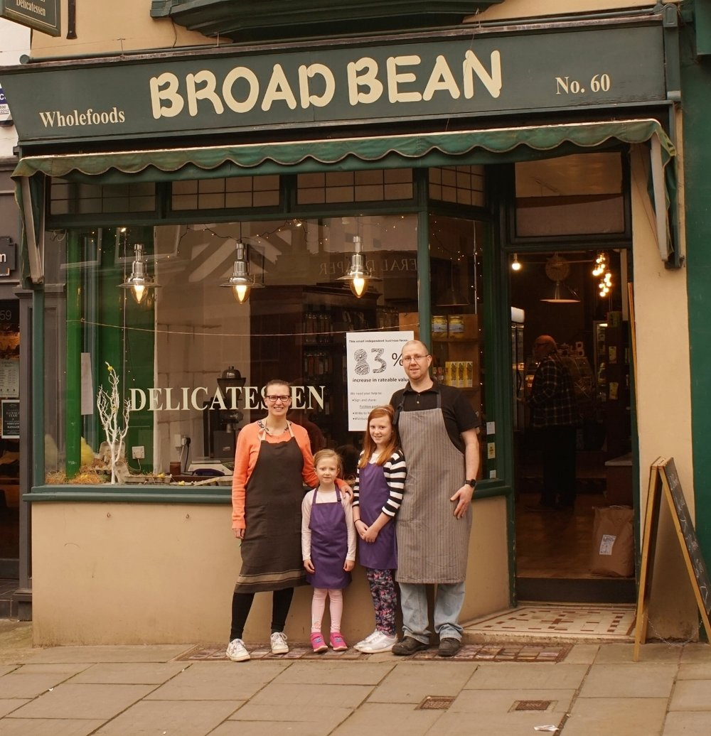 Alice, Ian and daughters at the beginning, before the shop rebrand Source: matthew evans
