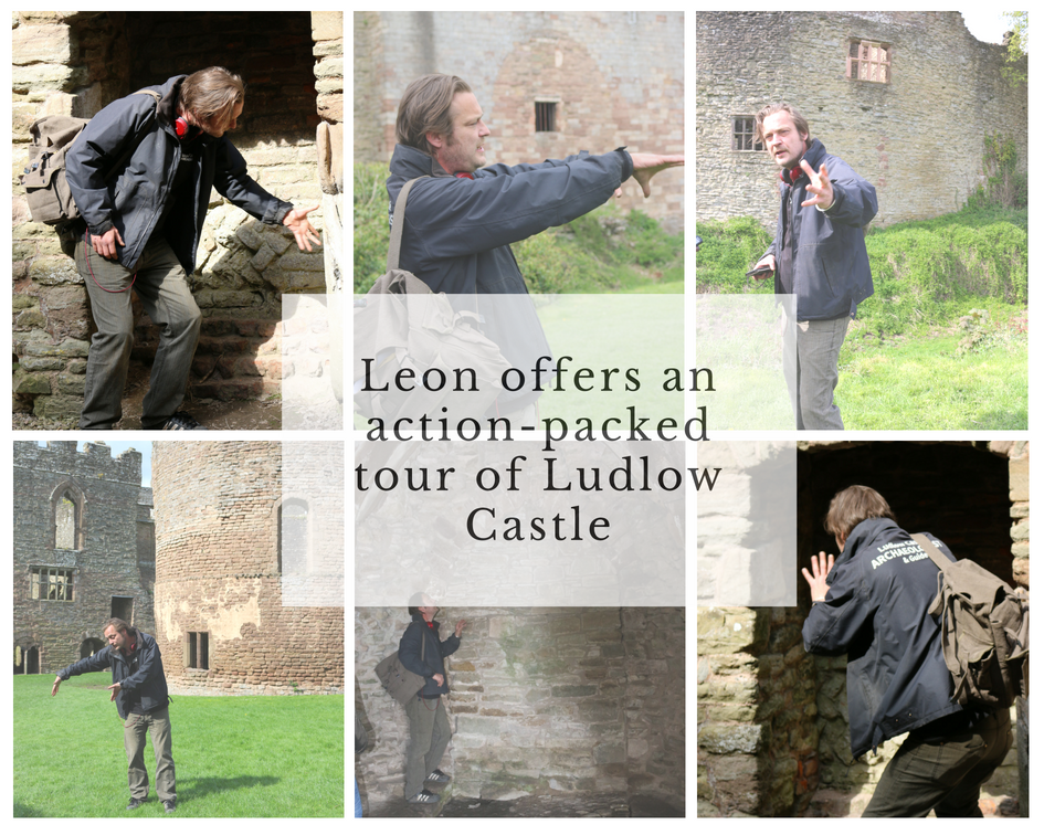 Leon offers an action packed tour of Ludlow Castle.png