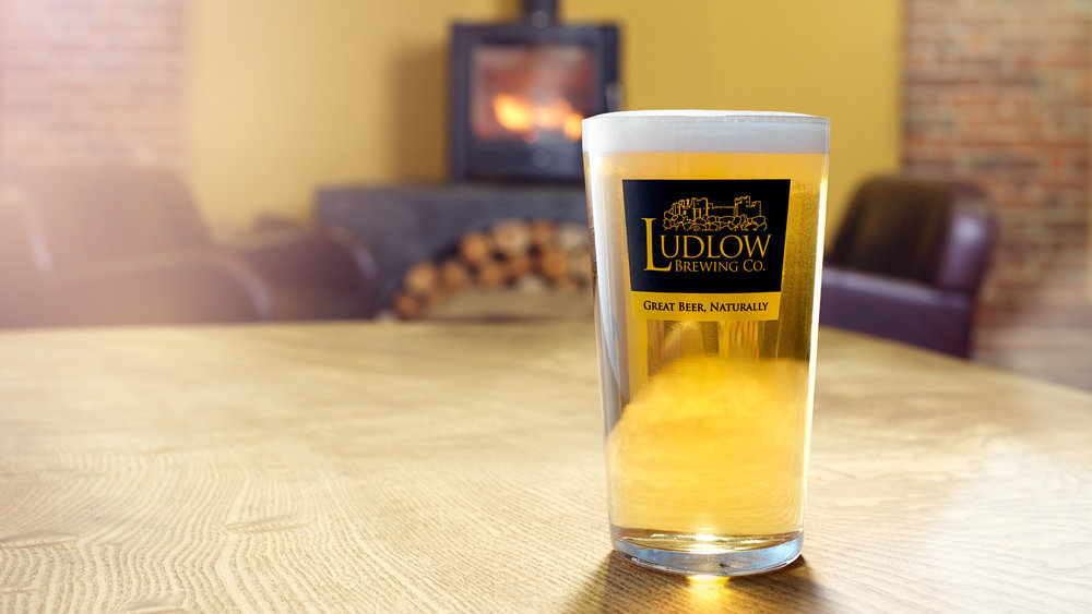 THE BLONDE:PINT OF AWARD-WINNING LUDLOW GOLD SOURCE: the brewery