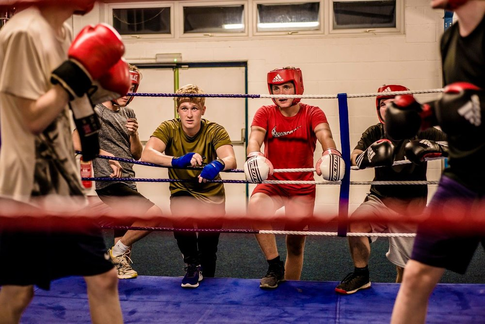 Young boxers at Ludlow Amateur Boxing Club