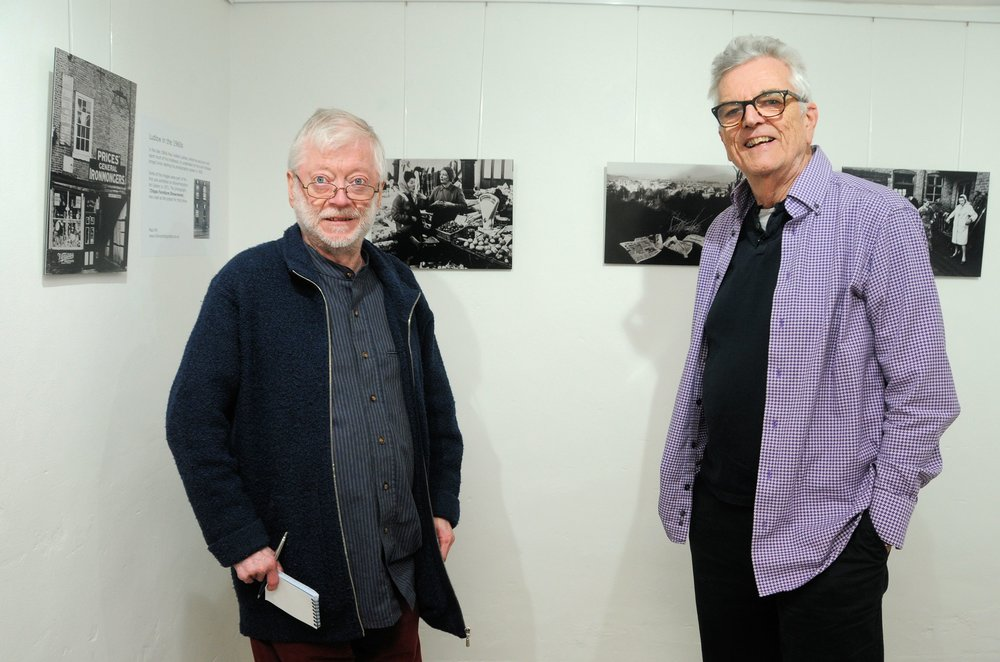 Peter with artist Paul Hill at his latest exhibition on Ludlow credit: the photo space