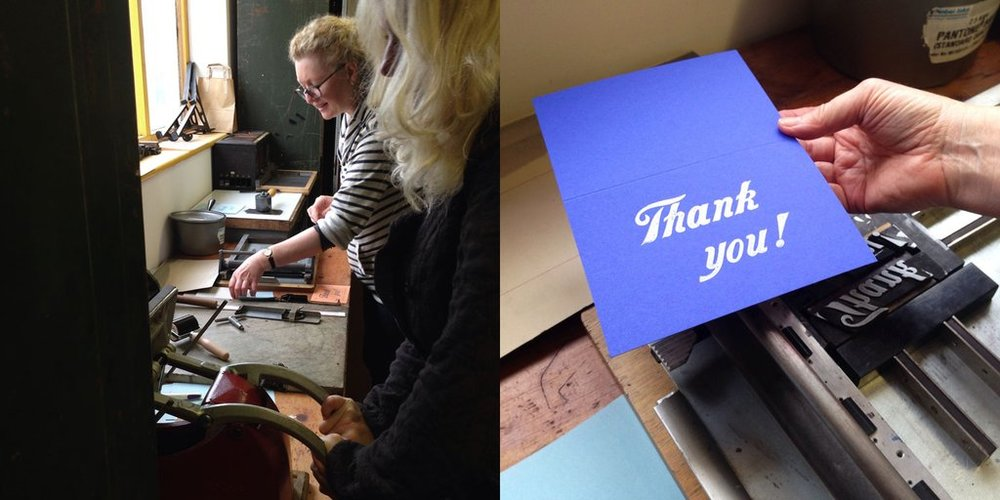 Letterpress workshops with Mostly Flat