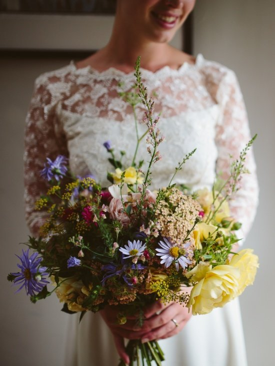 Breathtaking bridal bouquet from The Flower Garden Stokesay Court