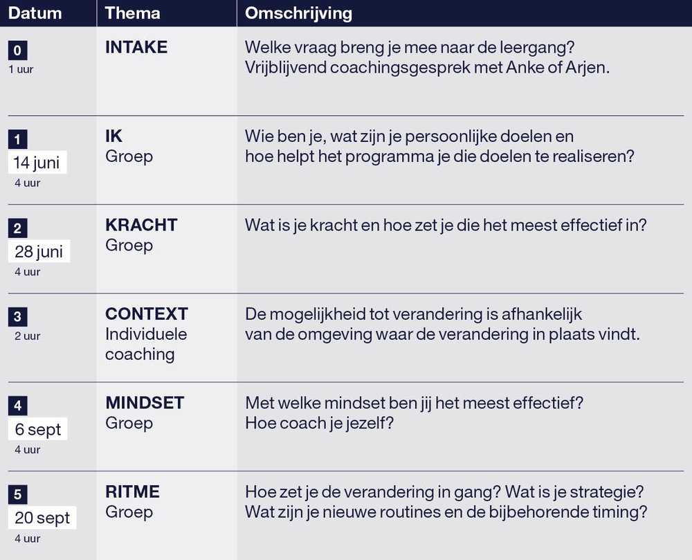 Coaching Arjen Hemelaar Programma Leading Change