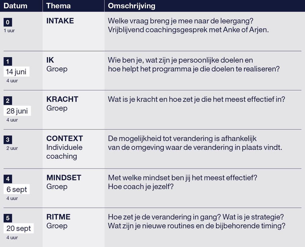 Coaching Arjen Hemelaar Programma Leading Change