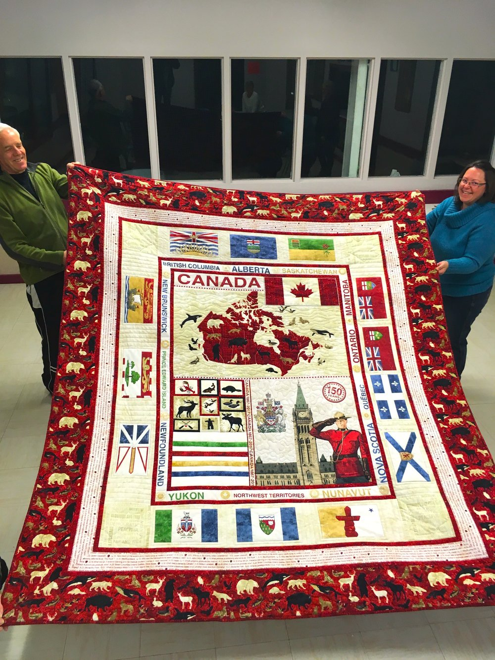 Canada 150 Quilt made by Jolene Seely
