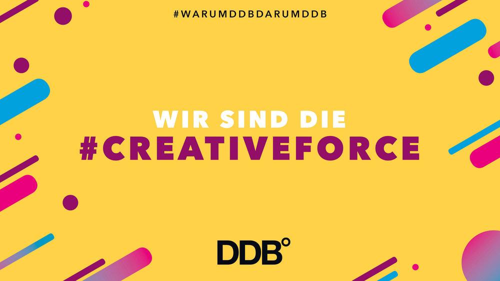 """DDB - """"Creativity is the most powerful force in business."""" Das Zitat unseres Gründers Bill Bernbach manifestiert seit über 50 Jahren unseren Glauben an die Kraft der Kreativität. Die Arbeit bei DDB muss Menschen bewegen, Marken stark und Unternehmen erfolgreich machen. Vielleicht sogar unsere Welt ein Stückchen besser machen. Dafür stehen wir, die Creative Force, mit 13.000 Mitarbeitern in über 200 Büros in 96 Ländern.Mitarbeiterzahl: ca. 400 (DUS, HH, B, WOB)Credo: """"Creativity is the most powerful force in business""""Special goodies: Vom Teamfrühstück, Paternoster-Rennen bis zur Freitagsbar.Düsseldorf ist geil, weil: 1962 wurde genau hier der Grundstein für die Agenturgruppe in ganz Europa gelegt: mit dem ersten Office außerhalb der USA. Zwischen Kö, Carlsplatz und Rhein entwickeln wir ausgezeichnete Kreativlösungen, die die ganze Welt begeistern."""
