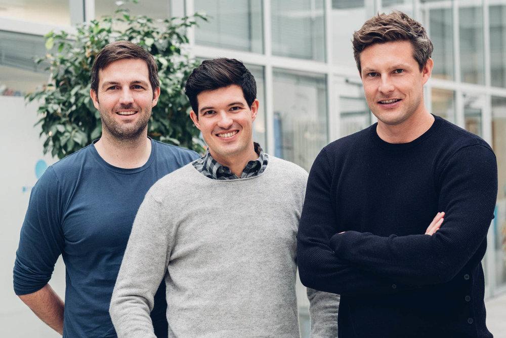 Oliver Steinki, Florian Michajlezko und Sven-Oliver Pink (v.l.n.r.)