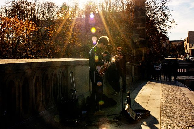 Playing at Bode Museum later today! Photo by the tagged lady! #thomandthewolves #berlin #bodemuseum #busking #music