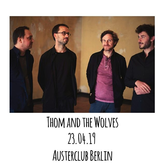 We are playing at Austerclub Berlin on the 23rd! Link in Bio!  #thomandthewolves #berlin #austerclub #live #music #gig #show