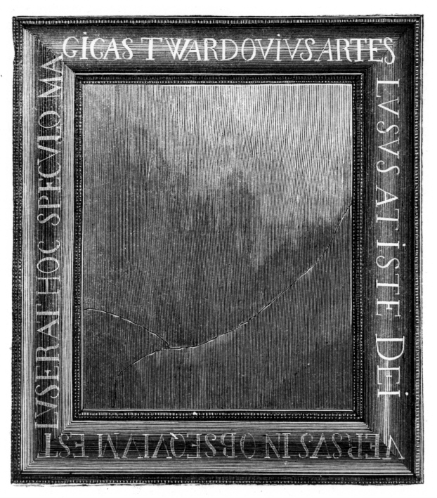 magic mirror of Pan  Twardowski: a sorcerer rescued from the Devil's grip by the Virgin