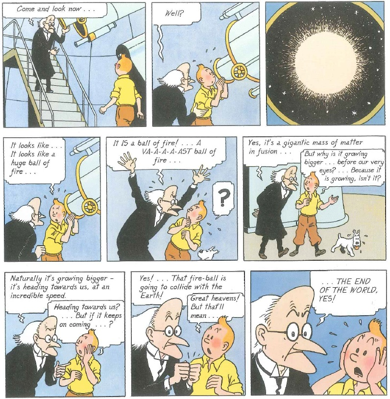 THE ADVENTURES OF TINTIN: The Shooting Star, by Herge, Little, Brown and Company, 1978, pp 5.
