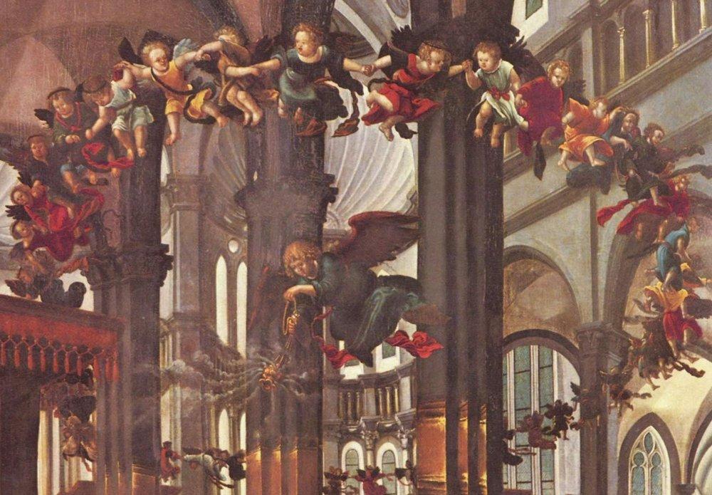"""Albrecht Altdorfer """"Nativity of the Virgin"""" detail"""