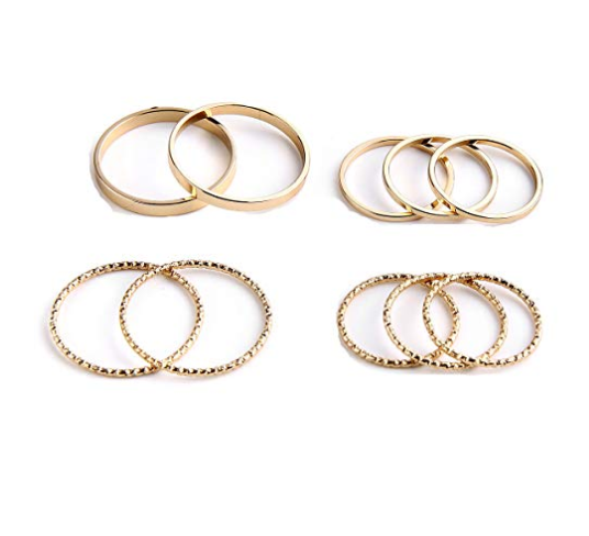 10 PC Gold Rings
