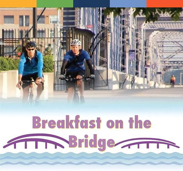Make your morning commute by bike! Bike commuters can enjoy breakfast on the bridge TODAY from 7-9am on @purplepeoplebridge. Waffles from @tasteofbelgium and coffee from @trailheadcoffee_  Don't have a bike? No problem! @cincyredbike is only $2 today! Use code 5222018 all day at any of the kiosks. #seeyouonthebridge #cincybikemonth #getsomeonebiking #bikemonth #rideon