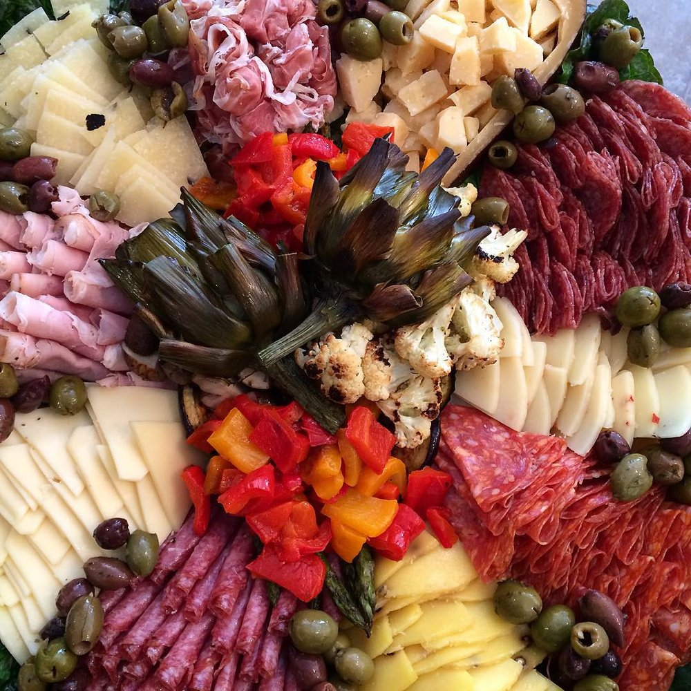 Antipasto Platters - Let Primi Piatti Market create an authentic antipasto platter for your next occasion. Platters available for parties as small as 5, to as many as you care to invite!Bring in your own tray for us to fill to give it your own personal touch, or order one of our ceramic or plastic platters.Price varies depending on size and choice of items, please call for pricing. (248) 566-3353