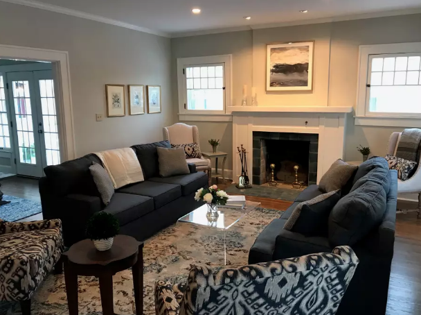 The Monon Belle - This charming property was purchased and renovated in 2017 and is now available for rent through AirBnb. This home is perfect for a short or long term visit to the Greencastle area.