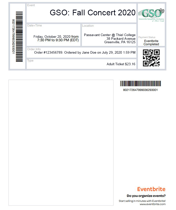 Example PDF Ticket