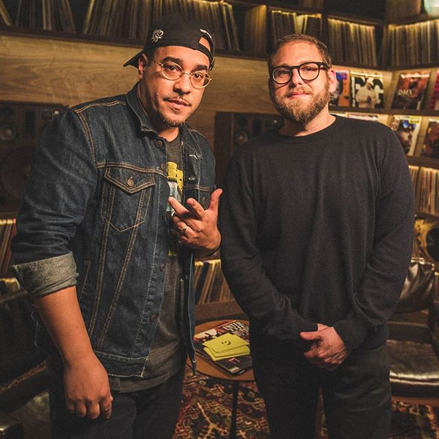 "Jonah Hill's hip hop knowledge goes super deep. So much respect when him and @robmarkman went back and forth reciting Big L's ""Put It On"" 🙏🙏🙏 Go see Mid 90s movie and watch this #ForTheRecord now live on @genius"