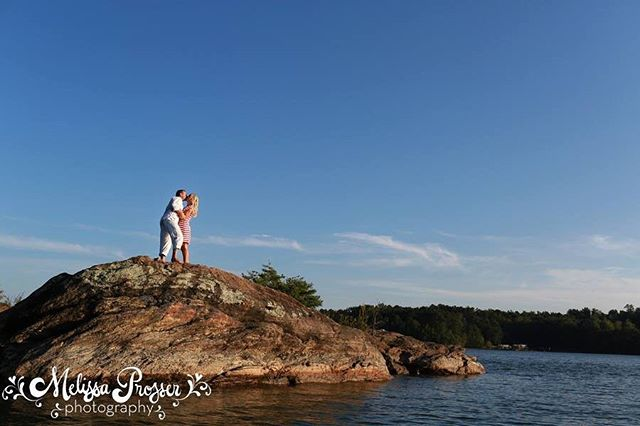 Loved this epic engagement session on lake Lanier!