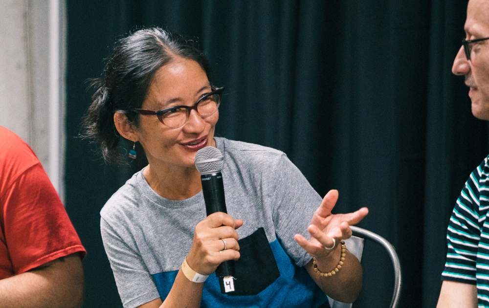 NYRTURE's Ann Yonetani participates in the Asian American Fermentation Panel Discussion at Happy Family Night Market 2018 - Photo by Janice Chung