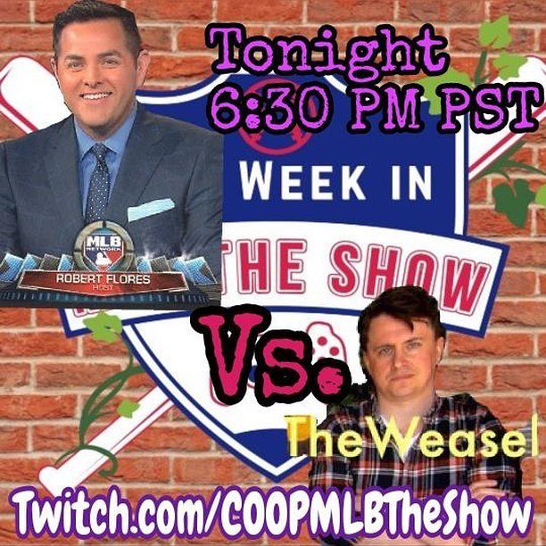 TONIGHT! 6:30 PST. We play Robert Flores in #TheShow18! Will you be there!  #mlbtheshow #mlbtheshow18 #mlb #baseball #mlbtheshow17 #mlbtheshow16 #baseball #TheShow18 #mlbnetwork #robertflores #mlbcentral