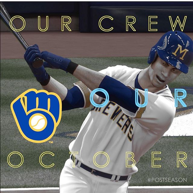 #ourteamouroctober #milwaukeebrewers #brewers #brewcrew #mlb #mlbtheshow #theshow #theshow18 #mlbtheshow18 #postseason #postseason2018