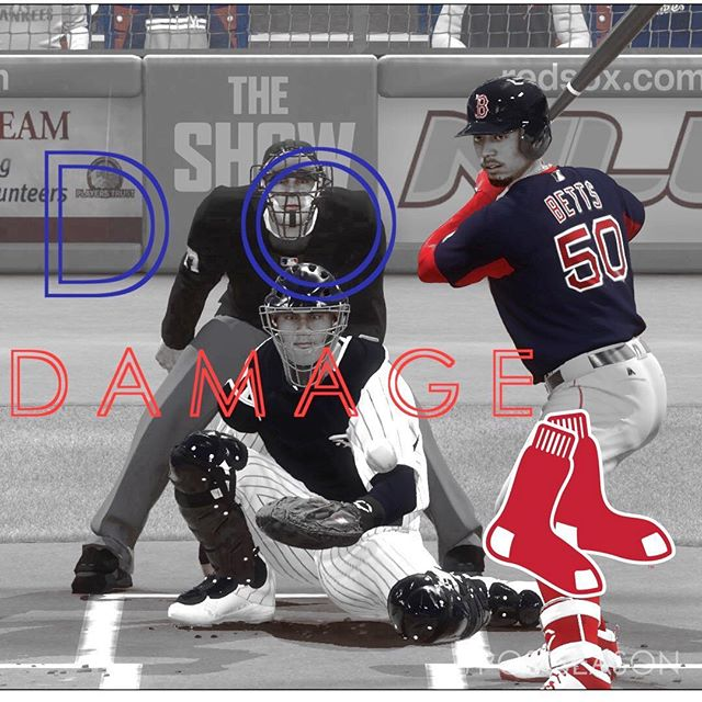 #boston #redsox #redsoxnation #postseason #mlb #mlbplayoffs #dodamage #mlbtheshow #theshow #theshow18