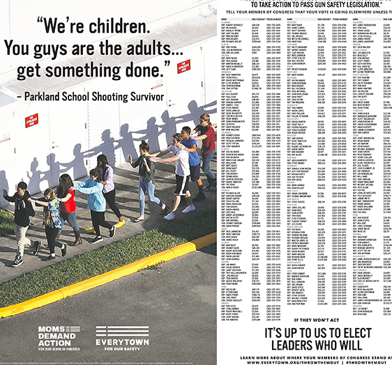 2-Page Ad in The New York Times Calls Out NRA-Backed Members of Congress -Adweek