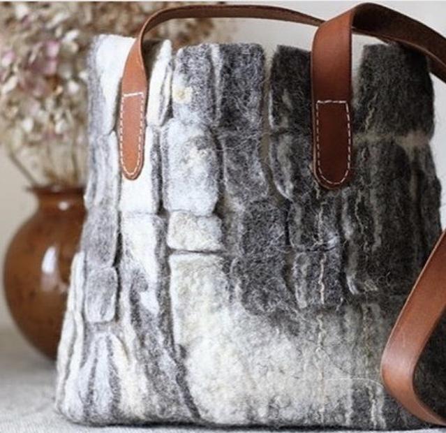 Textured Felt Bag