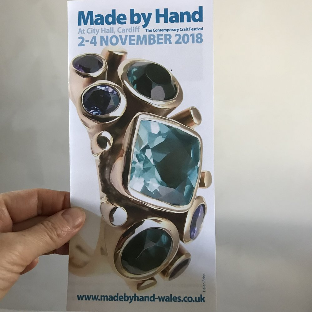 Made by Hand Cardiff  is fast approaching a date for your diaries, it's a must! This is a particularly special show in my home town with so much green space in and around the castle grounds deep in the heart of the city. See you there!