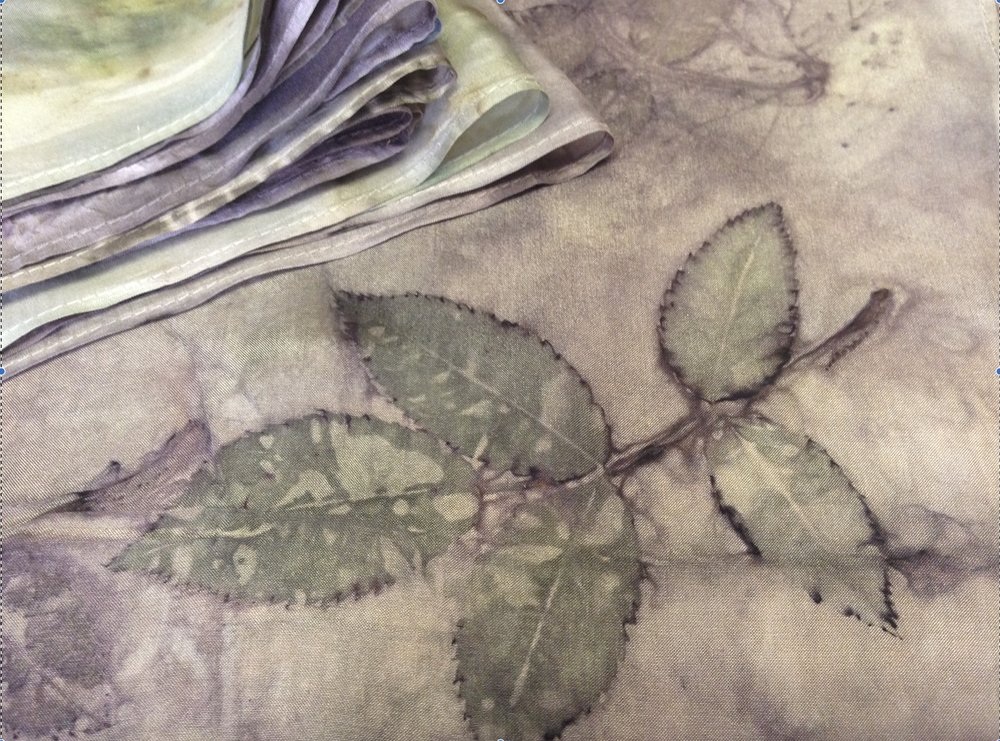 Eco Prints Bundle Dye Working : £85   Saturday, April 6, 2019  10:00 AM3:00 PM  This workshop will introucuce you to the magic of eco printing with leaves to create pattern and colour, using the direct leaf contact method of bundle dyeing. Experimenting with a variety of leaves on fabric and paper, endless colour and patterned prints will be achieved, leaving you with the crazy desire want to create prints on every tired and dull item of clothing you own.  *all materials included, please bring a towel and bag to carry home wet items. Green