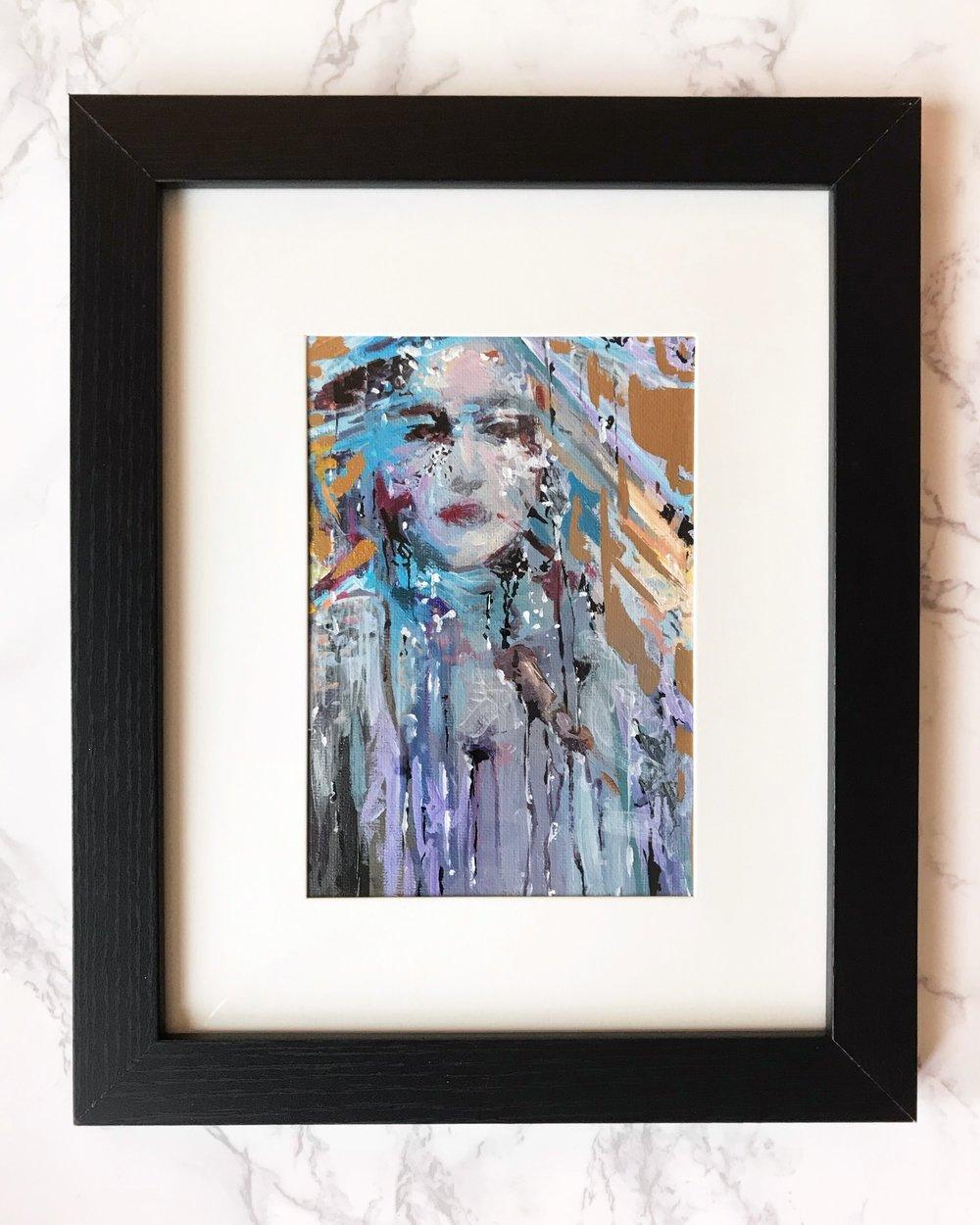 Retrospect  5x7  Acrylic on Canvas Board