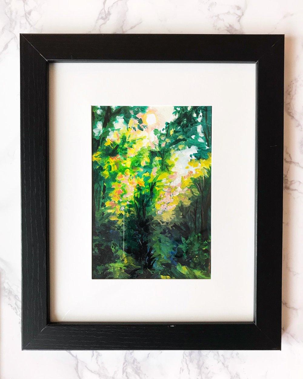 Morning Light  5x7  Acrylic on Canvas Board