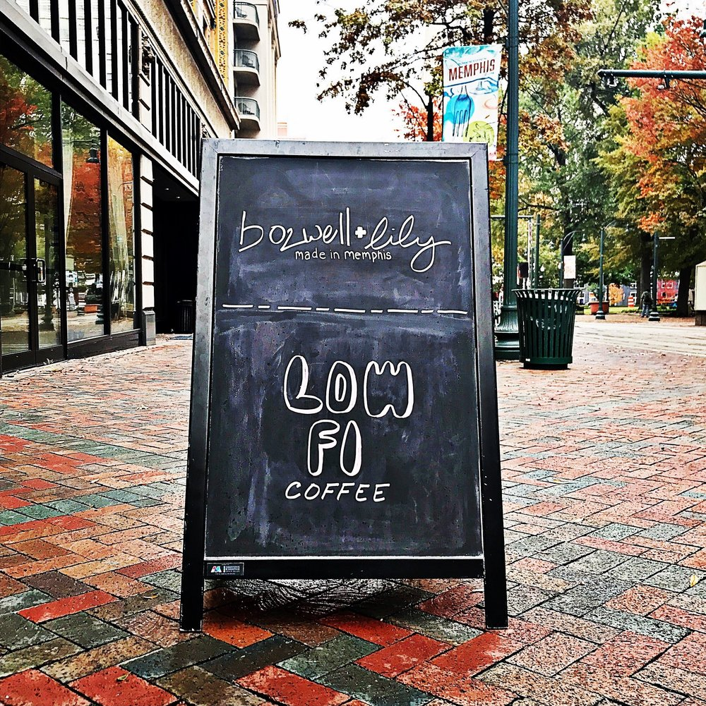 Bozwell+Lily / Low Fi Coffee Pop-Up  7. N. Main, Downtown Memphis, TN / Nov-Dec 2017