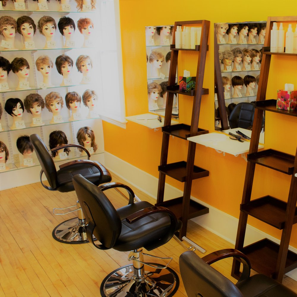Inside The Wig Boutique style room. Click here for our FAQ!