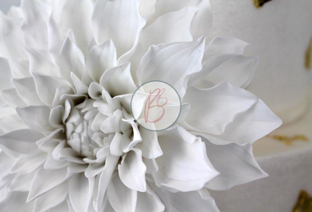 Gilded Dahlia Detail 1