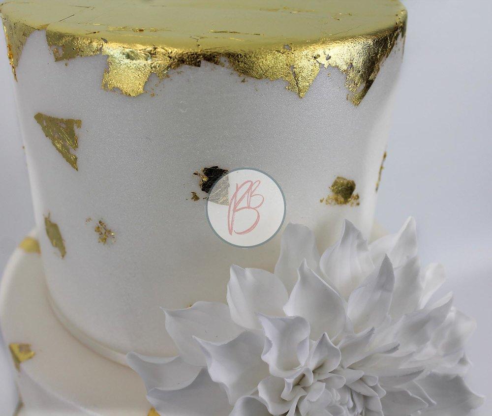Gilded Dahlia Detail 2