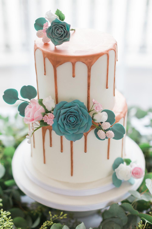 rose gold wedding drip cake.jpg