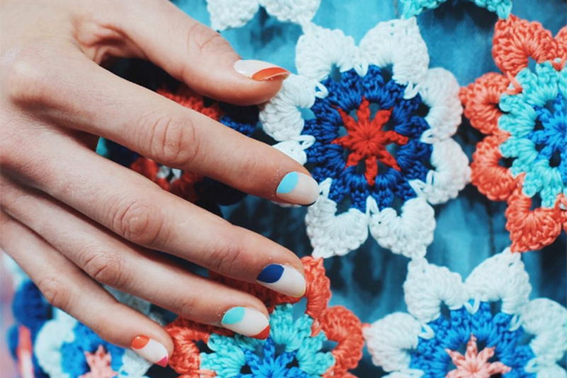 Nail art at Tanya Taylor NYFW SS17