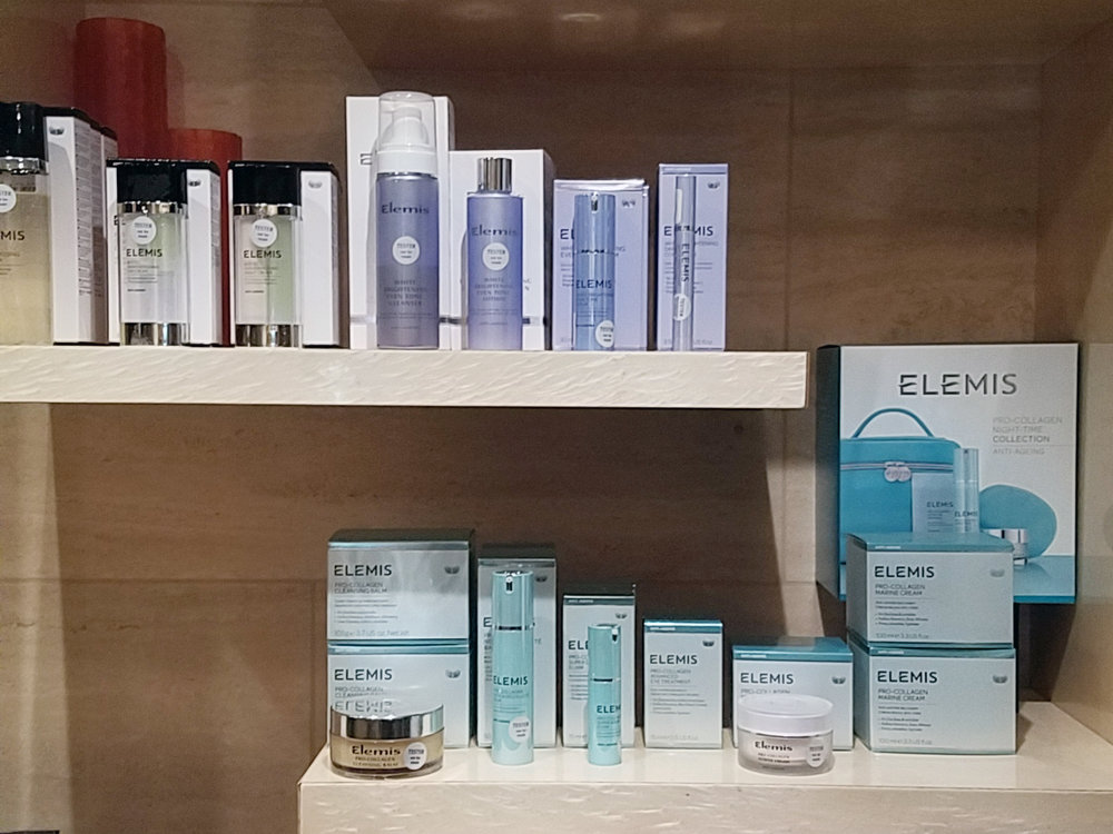 A few of Elemis' offerings at The Spa at Beverly Wilshire.